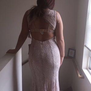 A ivory prom dress, size medium.